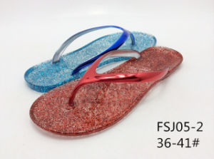 2014 Nouvelle mode patin/PVC sandale Jelly Chaussures pour dame FSJ05-2