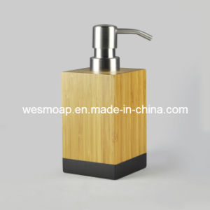Bambú carbonizado accesorios de baño con borde negro (WBB0617A)