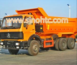 Vrachtwagen van de Stortplaats van de Kipper Beiben van de lage Prijs de Goede Voorwaarde Gebruikte 6X4 340HP met de Technologie van Benz van Mercedes