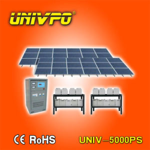 48V CC Module Solar System con Charge Controller, Batteries e off-Grid Inverter Integrated (UNIV-5000PS)