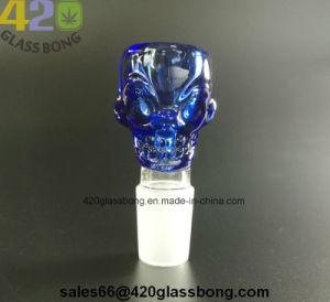 Cráneo embriagador del tazón de vidrio Waterpipes Recipiente para fumar hierba seca/hierba/14/18mm conjunto hembra/macho