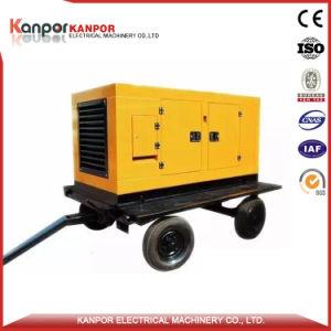 Снимите тип прицепа дизельный электрический Silent генераторной установки с четырьмя колесами (15квт-500Ква)