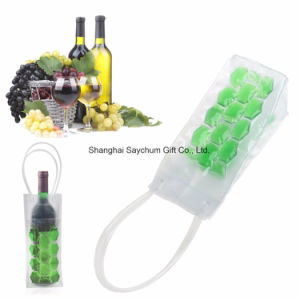 Custom Gel réutilisables Bouteille de vin en PVC Sac Refroidisseur Refroidisseur de bouteille de bière unique