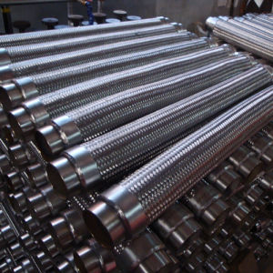 フランジのステンレス鋼の編みこみの適用範囲が広いホース