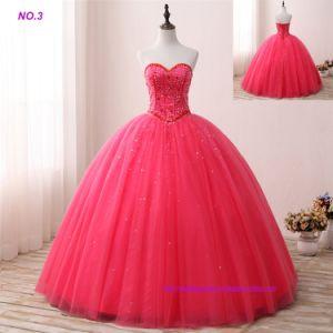 4c34c88d9 Rojo Rosa Bola vestido de novia vestido de quinceañera