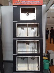 Undermount évier de cuisine en acier inoxydable unique, bar lavabo