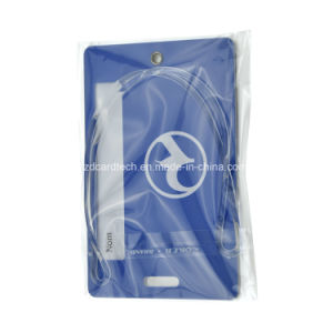 Modifica di plastica dei bagagli di caduta di corsa della firma del PVC di Costomized