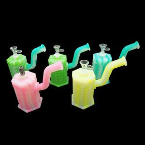 Cera de hierbas de alta calidad de silicona de concentrado de titanio de vidrio el hábito de fumar pipa de agua Oil Rig DAB