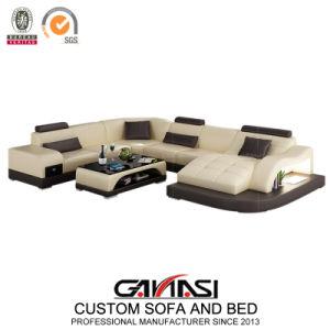 Muebles personalizados de cuero italiano sofá 7 plazas de Villa