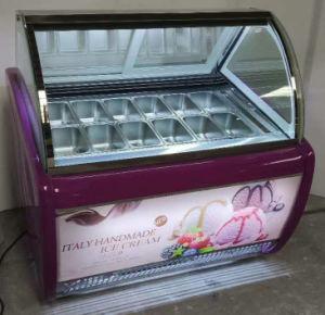 Alta calidad Hot Sale Heladería Congelador Gelato-Scooping Cabinet