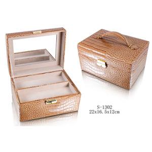PU Couro Caixa de jóias Gemstone Caixa de jóias jóias de Cosméticos Box