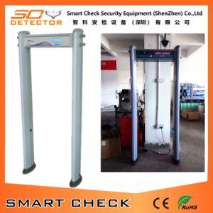金属探知器を通る6つのゾーンの戸枠の金属探知器の円柱歩行