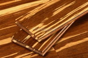 Marron foncé Tiger Strand le sol en bambou tissées