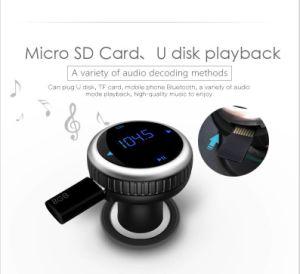 Kit para coche Bluetooth Reproductor de MP3 inalámbrico de Llamadas manos libres LCD transmisor FM USB CARGADOR