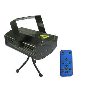 Láser mini proyector de iluminación de escenario para la Navidad 4 en 1 Efecto con mando a distancia