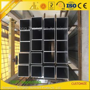 6061 6063 rectangular de aluminio extruido Structral circular de los cuerpos huecos