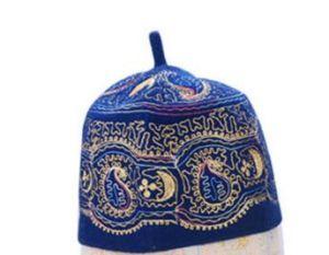 Tampão de oração muçulmana 100% bordado de lã