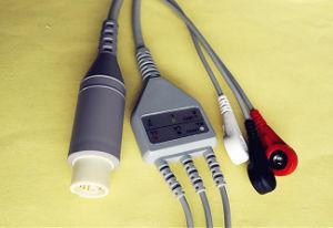 Nec монитор пациента 15пружинного стопорного штифта и закрепите кабель ЭКГ