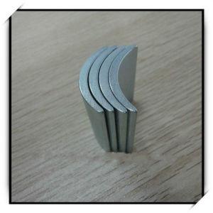 Редкоземельные Arc форма сегмента магнит с цинковым покрытием