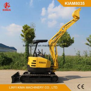Kima8035 Mini escavadora de rastos giro zero 3500kg com marcação CE