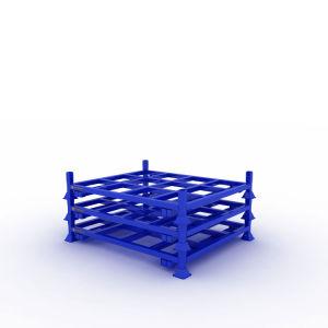 Revêtement en poudre à usage intensif de pliage Tire Rack avec chariot élévateur à fourche