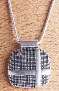 Tegenhangers Neclace van de Tegenhanger van de manier de Zilveren Antieke Zilveren Geplateerde Gehamerde