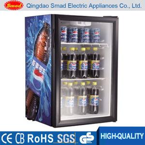 98L puerta de vidrio de mesa Mini refrigerador de escaparate