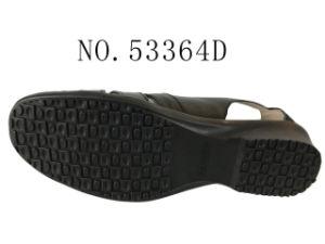 Trois couleurs Lady chaussures chaussures sandales en cuir de vache