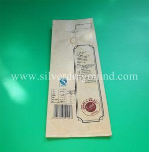 El papel de estraza personalizadas bolsas de café con válvula