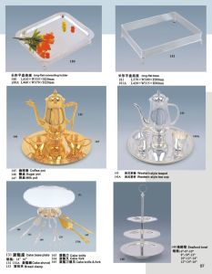 Deluxes Gold und Silver Banquet Tableware für Party und Event