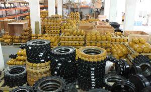 La machinerie de construction de l'excavateur pièces de châssis porteur de bouteur chenille Doosan Daewoo en bas du rouleau inférieur