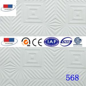 Placa de teto de gesso laminado de PVC com revestimento de alumínio568