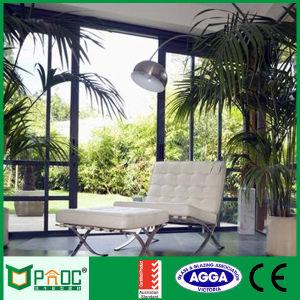 Balcone di alluminio che fa scorrere il portello del patio