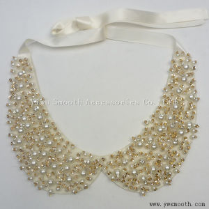 I collari delle perle di modo copre gli accessori del vestito dalle donne del Choker dei branelli di Appliques