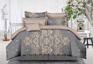 Bettwäsche 4PCS stellte Polyester Microfiber Dubai Bett-Deckel-gesetztes Bettwäsche-Blatt 100% ein