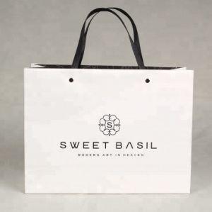 De blancos personalizado de lujo Compras bolsa de papel