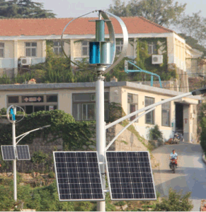 400W de la turbina vertical del viento y paneles solares off-grid System