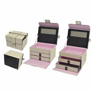 Acabamento mate jóias de madeira de alimentos na caixa de armazenamento