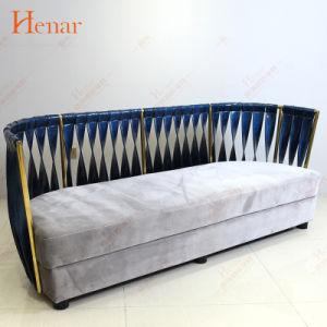 Современные Luxe Золотой из нержавеющей стали в лобби отеля диван в разрезе