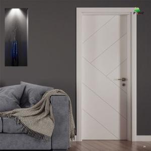 Bem Interior Qualidade Preço competitivo MDF laminado de PVC ou proteção ambiental DE PINTURA PORTA DE MADEIRA
