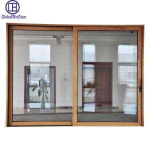 O alumínio de liga de alumínio/Metal Exterior e Interior do elevador de vidro temperado vidro corrediço da porta de entrada