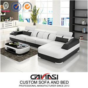 Couro moderno mobiliário doméstico sofá de canto para sala de estar