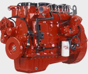 motore diesel Isde185 40 di raffreddamento ad acqua di 6cylinder Cummins 185HP