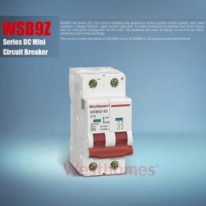 Ar de caixa moldada em miniatura capacidade de interrupção DC 6KA 10ka Interruptor elétrico de vácuo Disjuntor Miniatura (WSB9Z) MCB