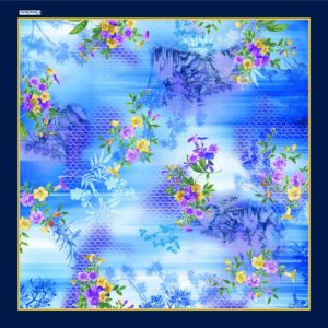 Bella sciarpa di seta stampata Digitahi (F13-0025)
