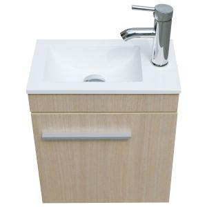 """Madera color 16"""" gabinete de vanidades de baño conjunto combinado Undermount buque fregadero de resina"""
