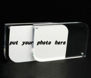 卸し売り新しく明確な磁石のアクリルの額縁をカスタマイズしなさい