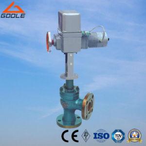 Tipo attuato elettrico valvola di regolazione di flusso del posto unico (GZDLS) di angolo