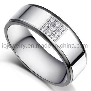 Ring van het Roestvrij staal van de Juwelen van de manier de Goud Geplateerde 316L