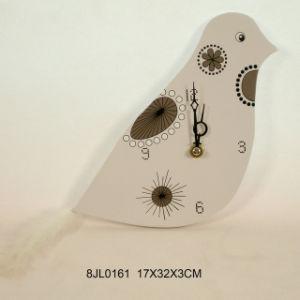 Uccello-Shaped di legno Wall Clock in MDF